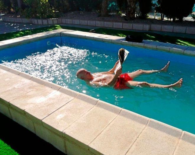 agua flotante